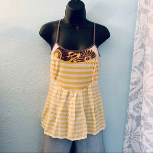Free People Sunflower Tank Top. Size small